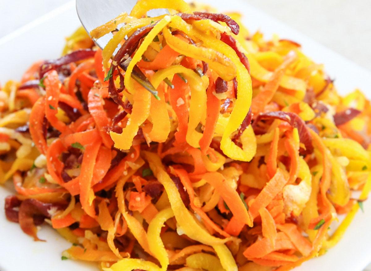 parmesan carrot noodles