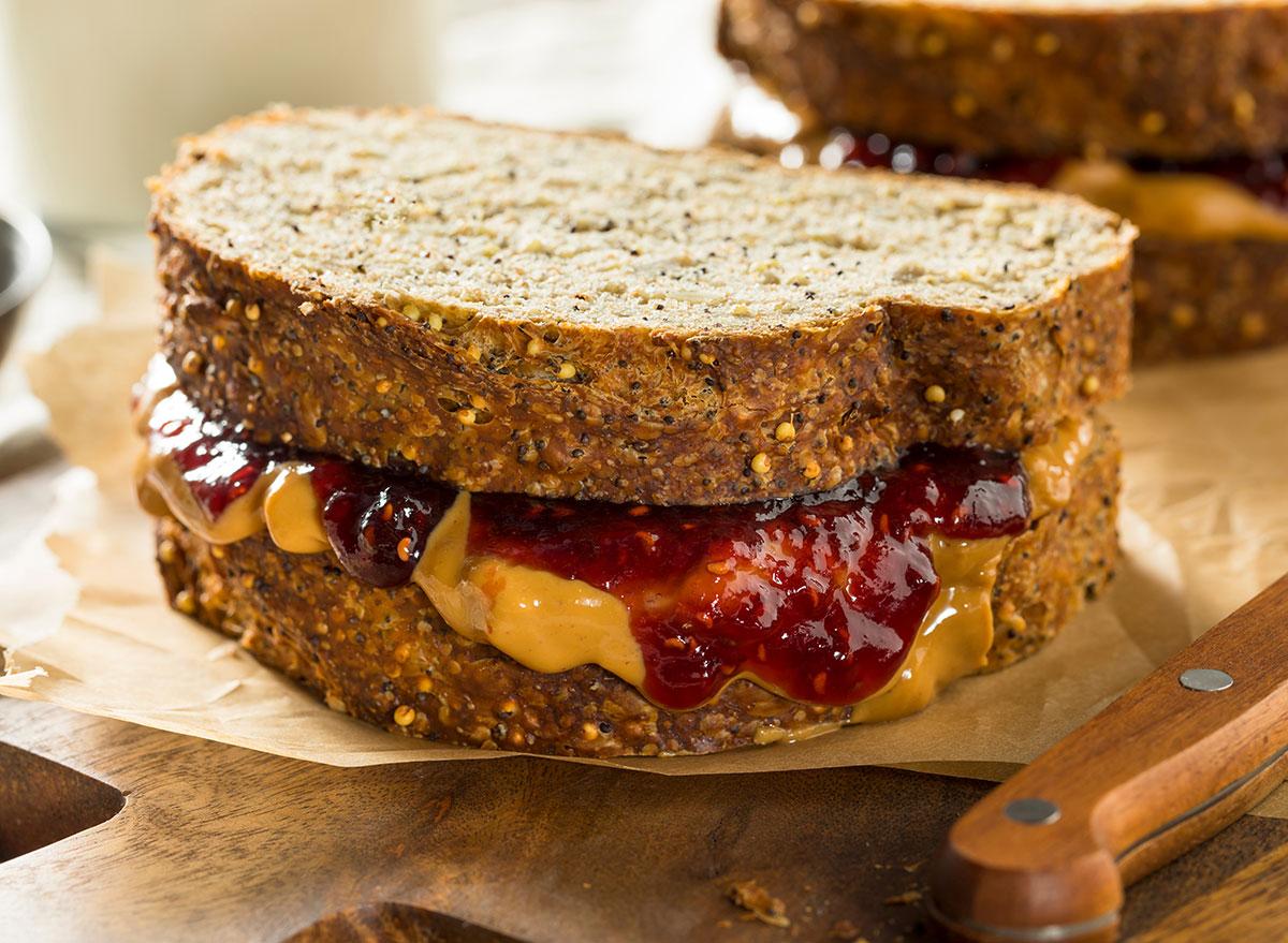 peanut butter artisnal bread