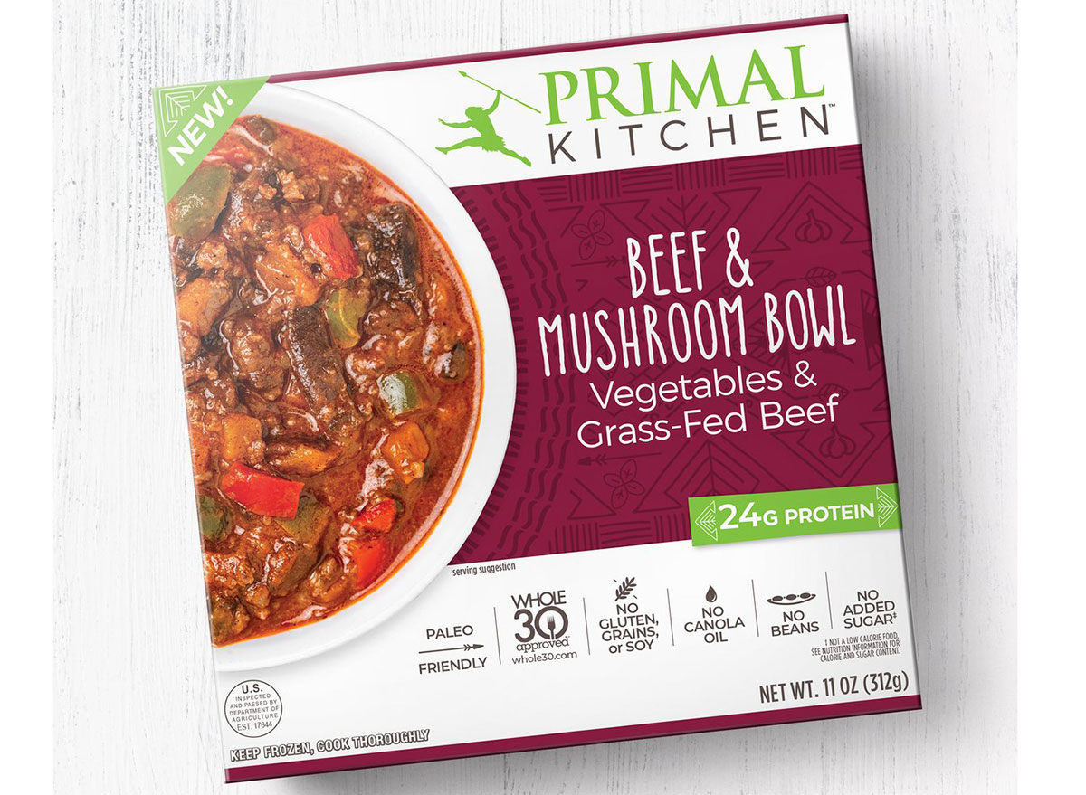 primal kitchen beef mushroom bowl