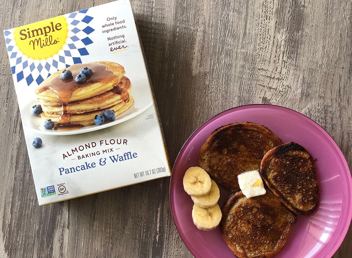 simple mills pancakes box mix