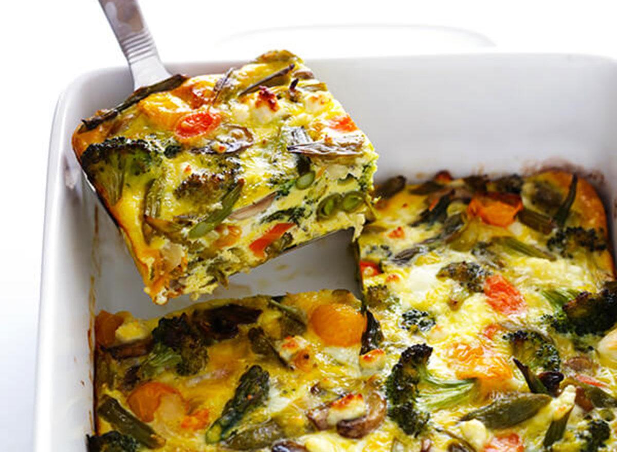 spring vegetable egg casserole