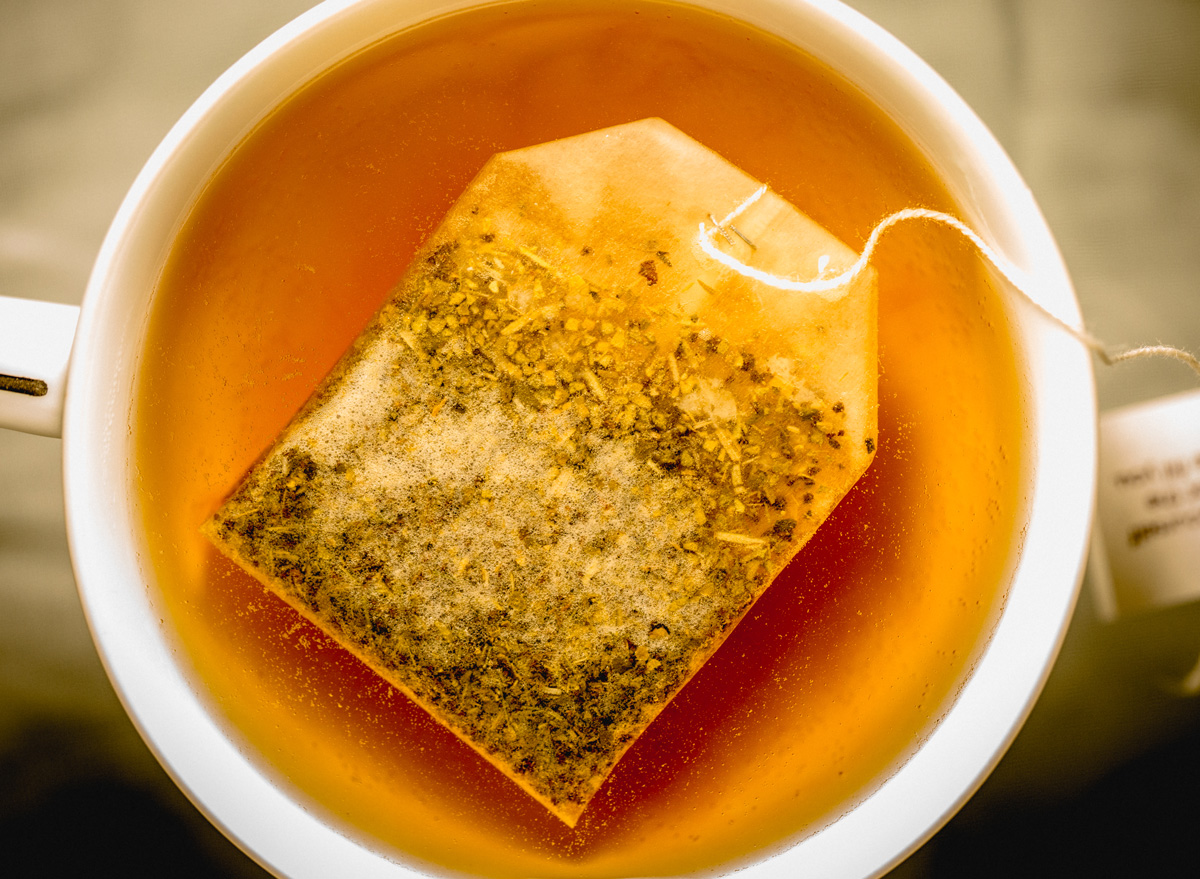 Steeping tea bag too long