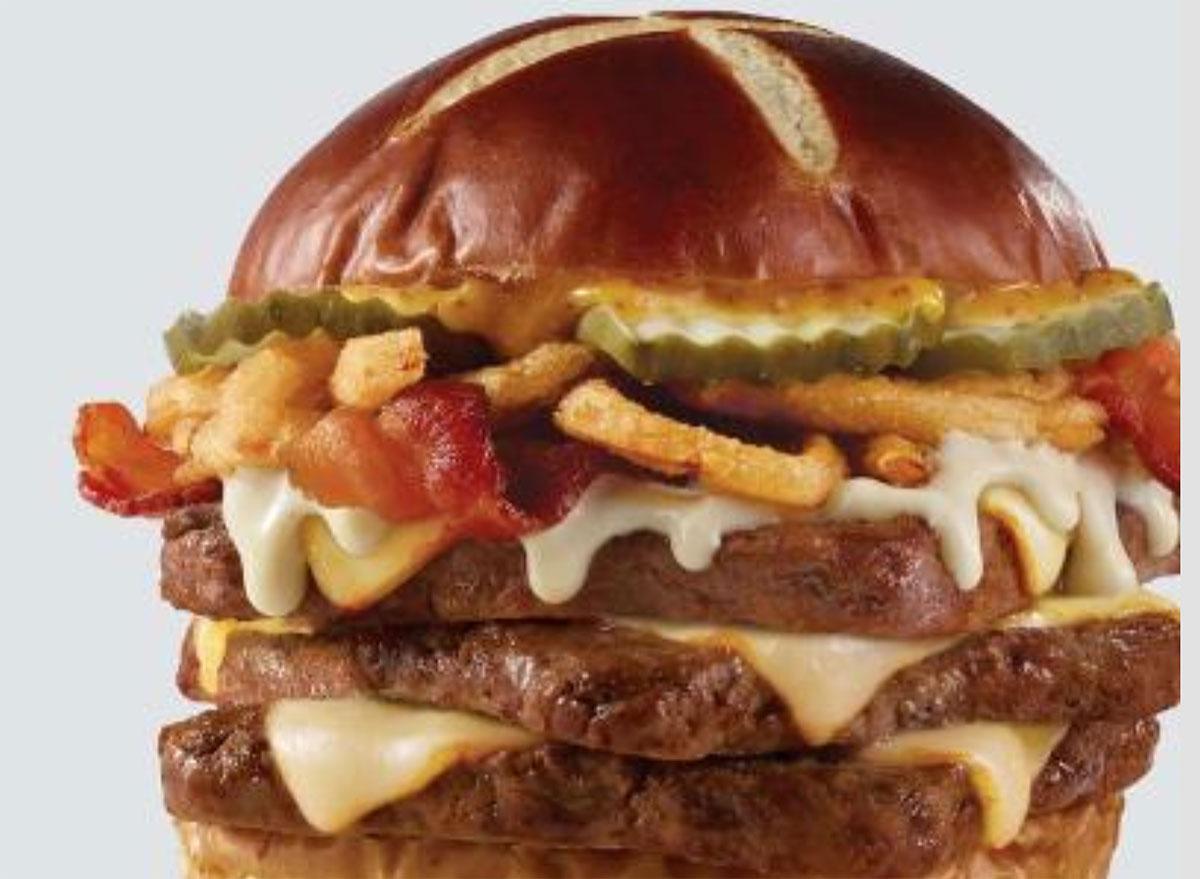 wendys pretzel bacon burger