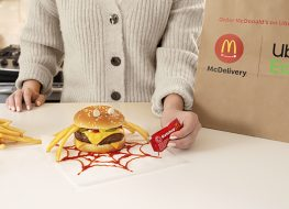 McDonald's Halloween Itsy Bitsy Burger