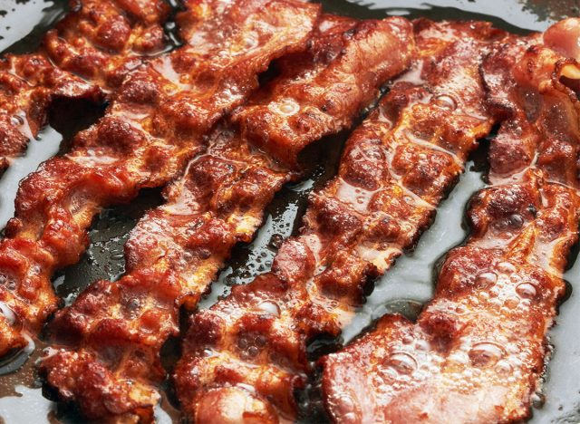 bacon slices closeup