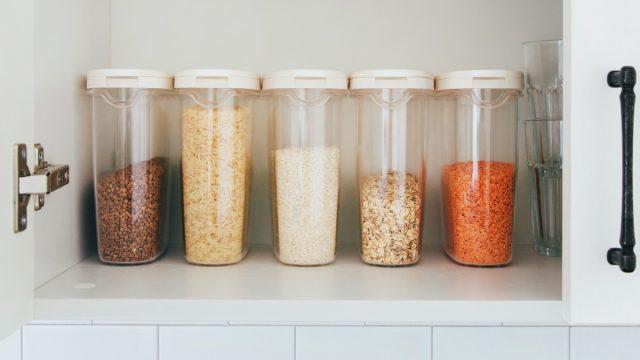 beans grains lentils pasta oats flour pantry containers