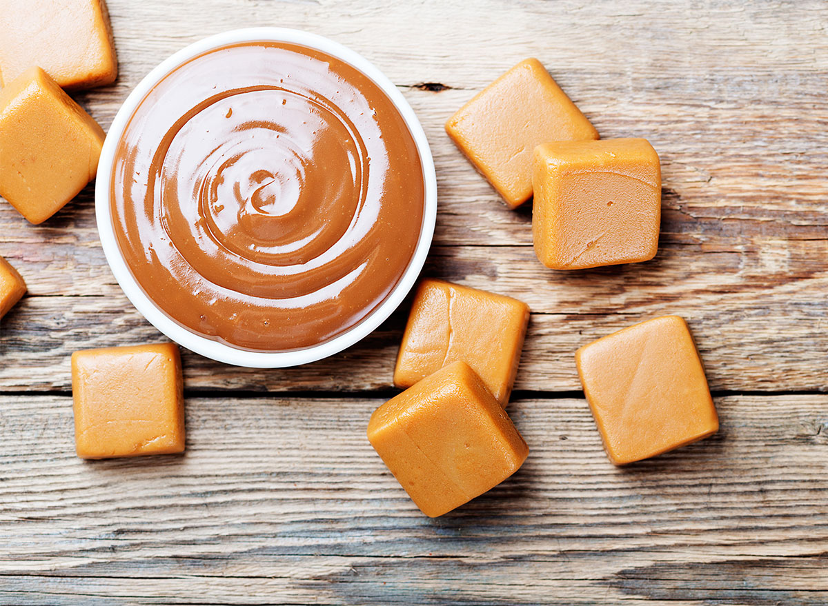 butterscotch dip and squares