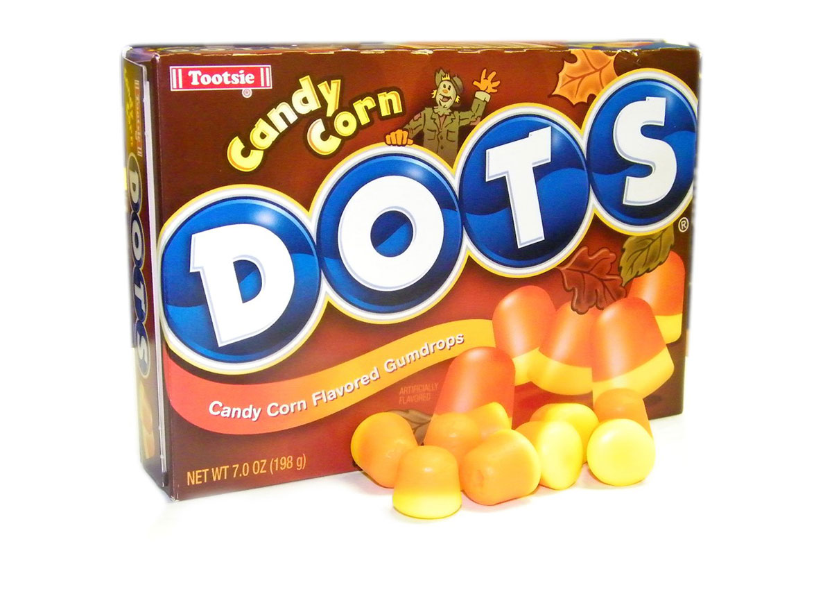 candy corn dots candy