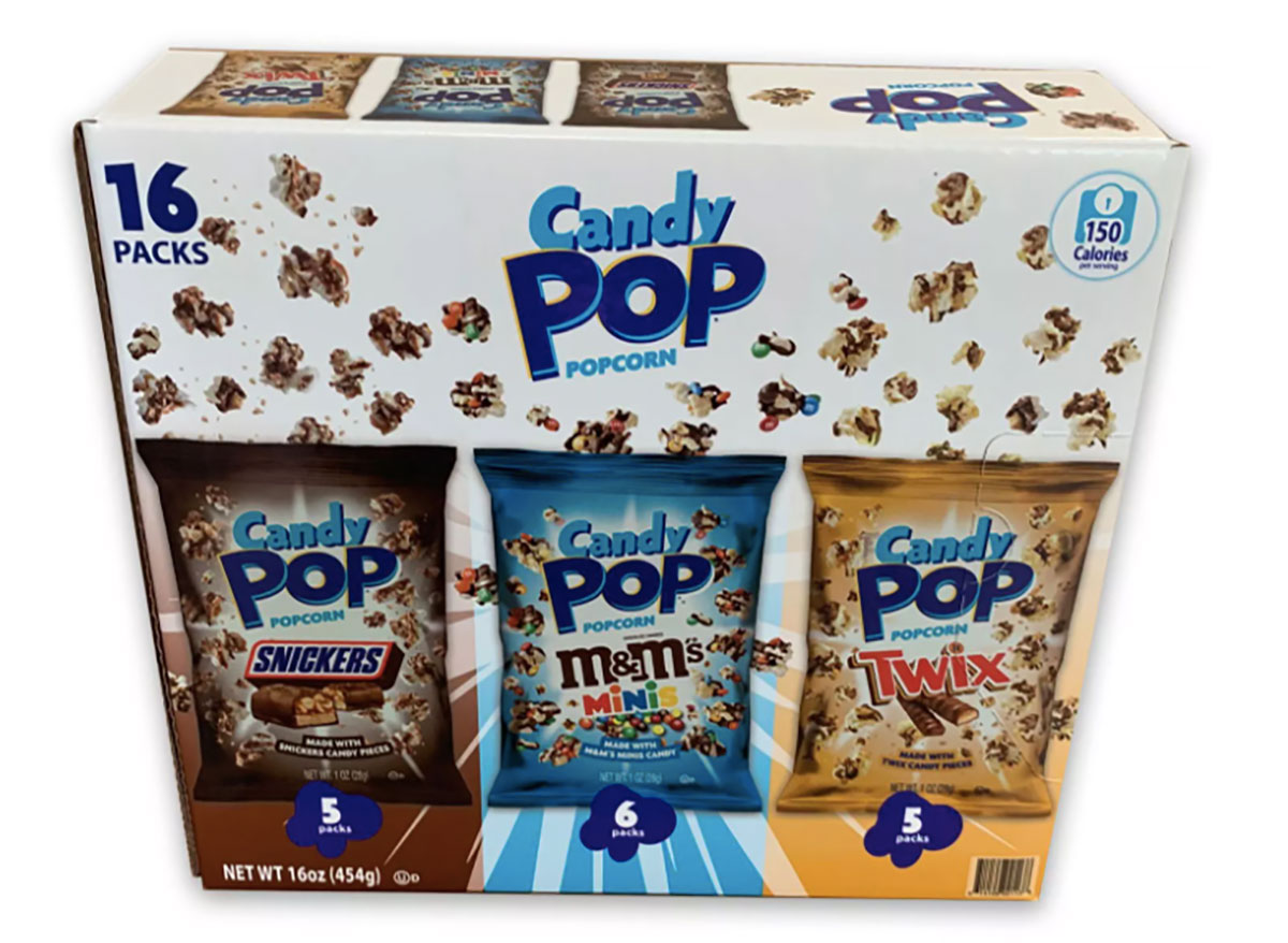 candy pop variety pack of popcorn