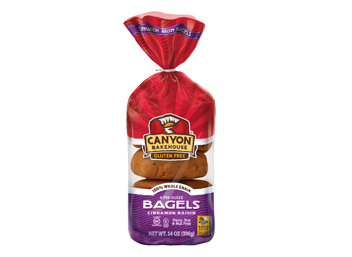 canyon bakehouse cinnamon raisin bagel