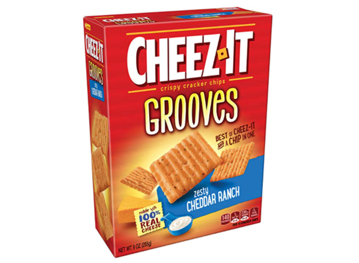 cheez it grooves zesty cheddar ranch box