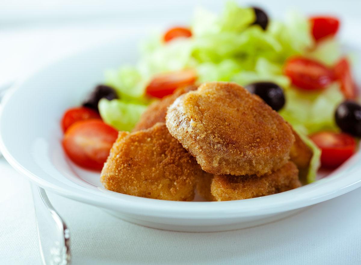 chicken nuggets salad