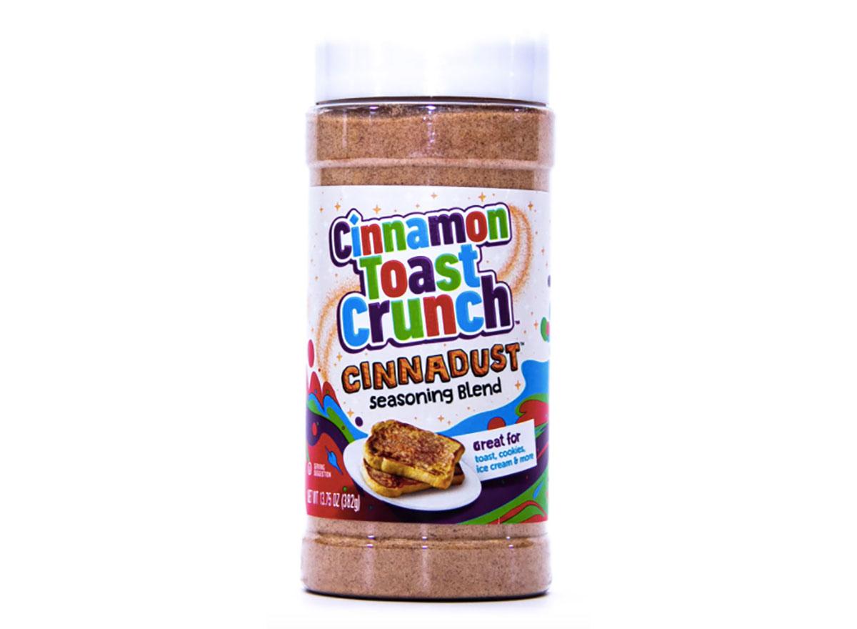 shaker of cinnamon toast crunch cinnadust