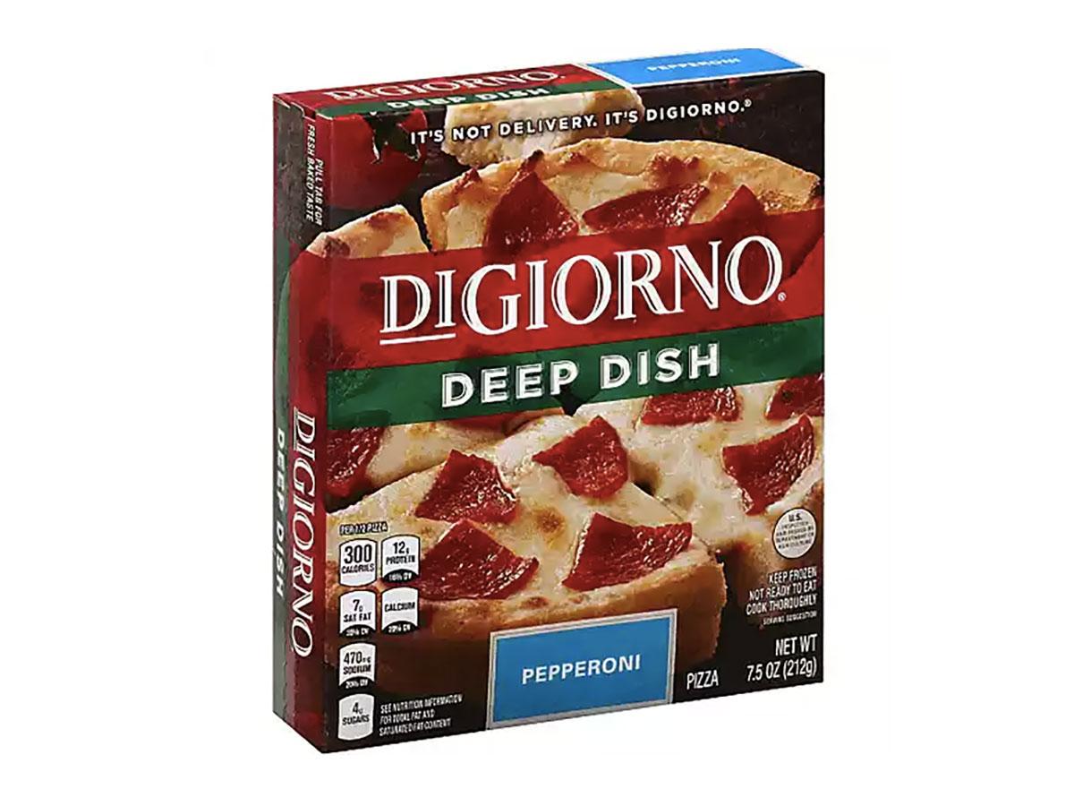 digiorno deep dish frozen pizza