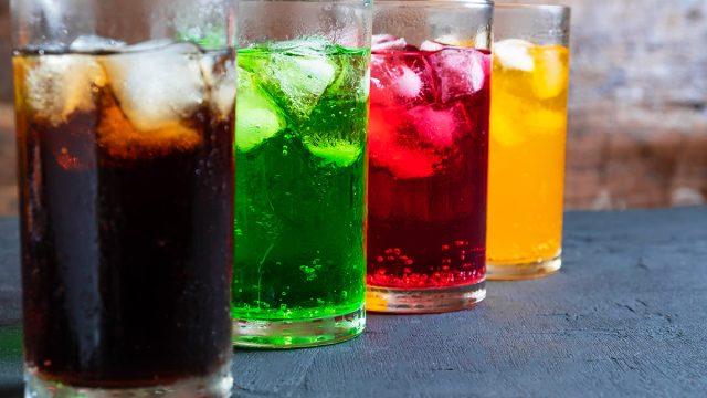 sodas with ice