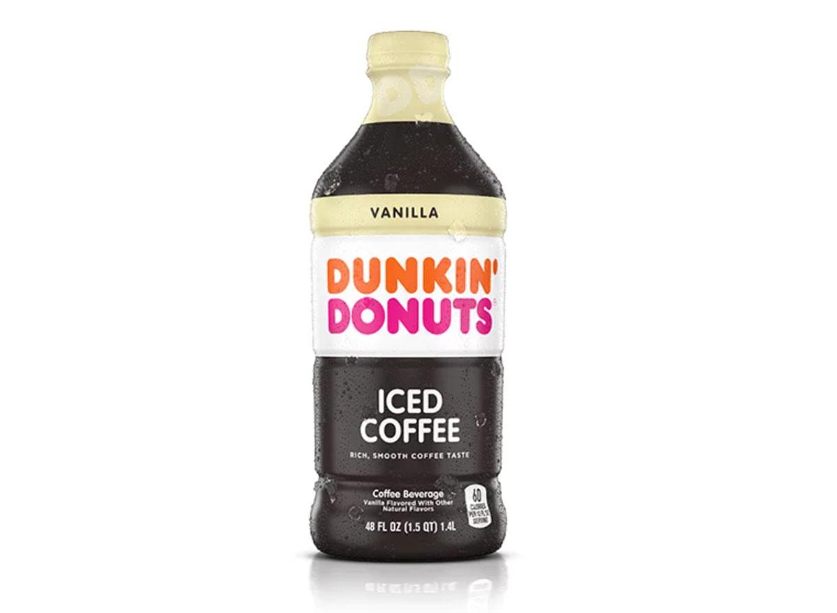 dunkin vanilla iced coffee