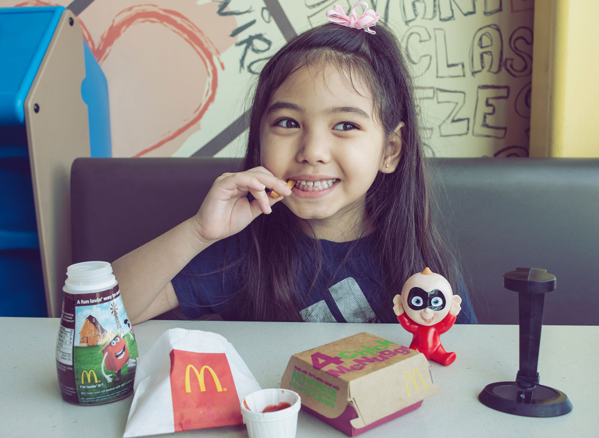 eating happy meal