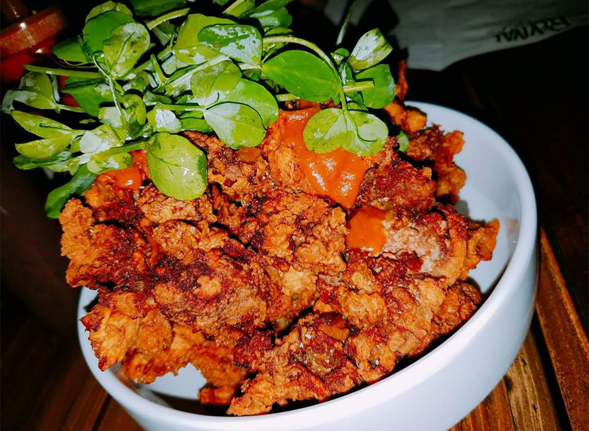 plate of fried chicken livers