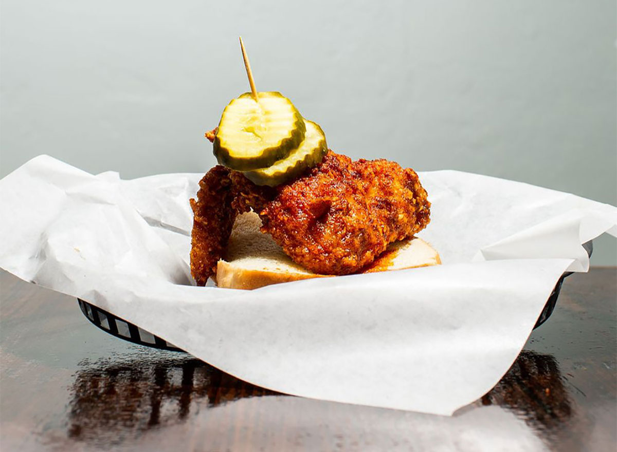 fried chicken sandwich from nashbird oklahoma