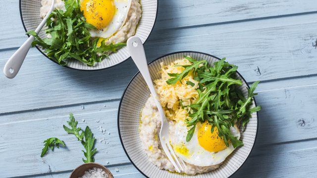 fried eggs oatmeal