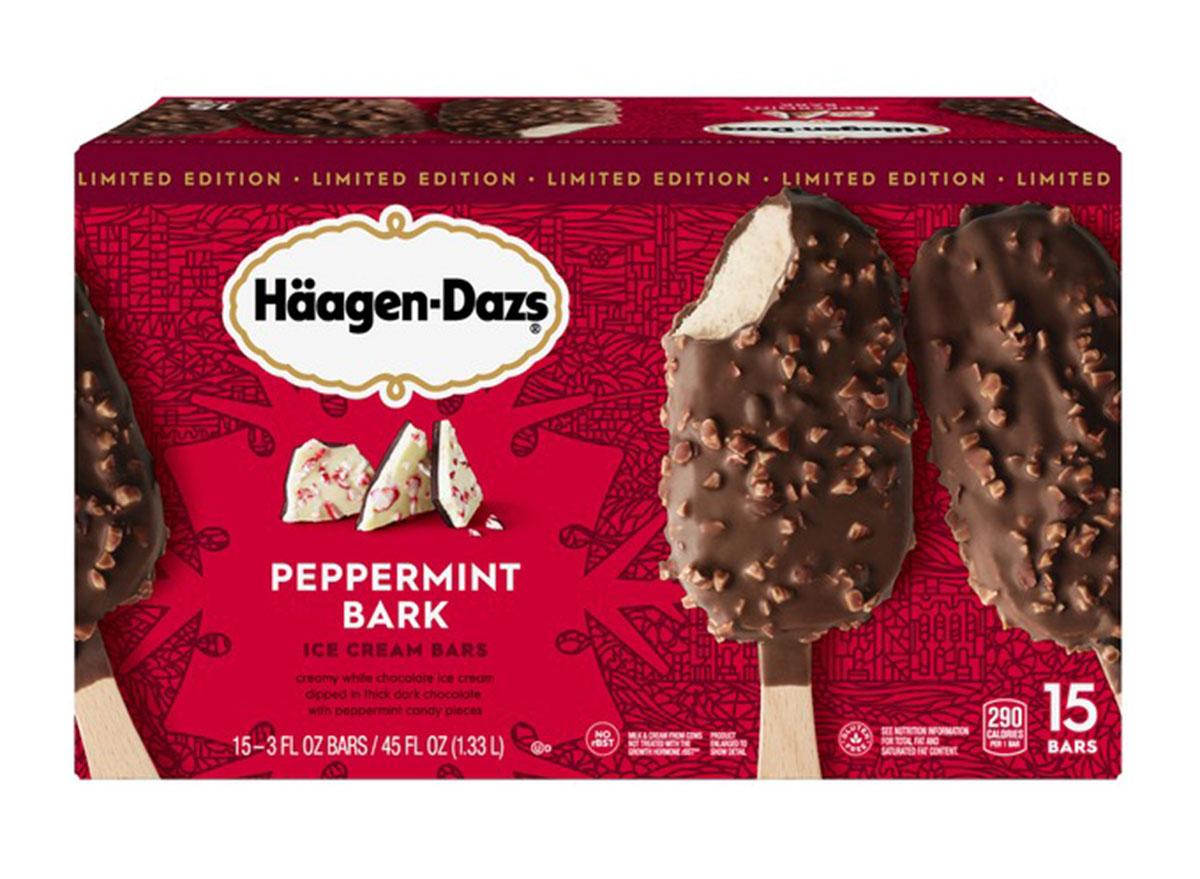 haagen dazs peppermint bark cookie bars