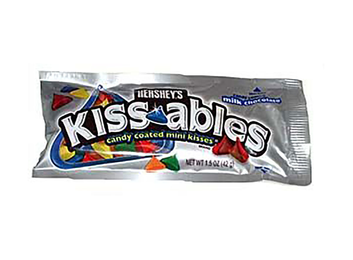 bag of hersheys kissables candy