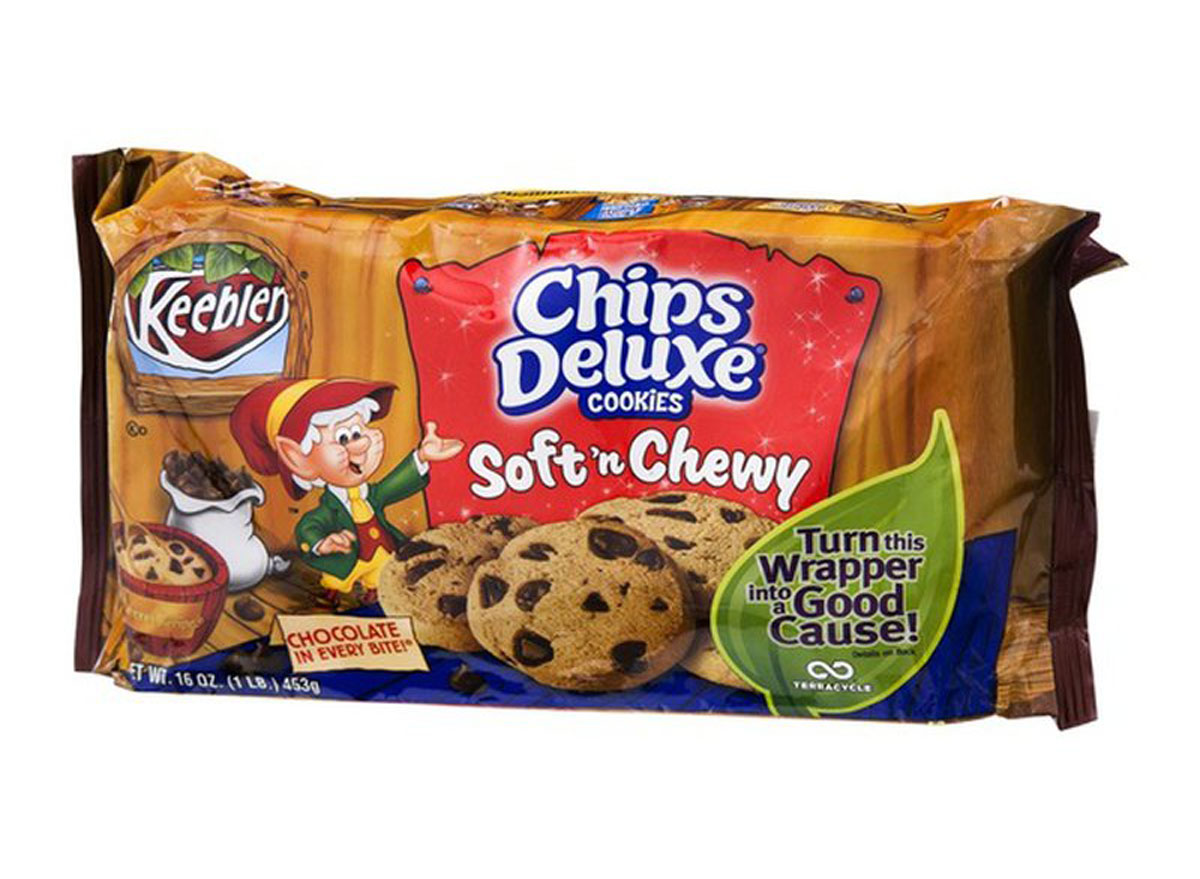 keebler chips deluxe cookies soft n chewy container