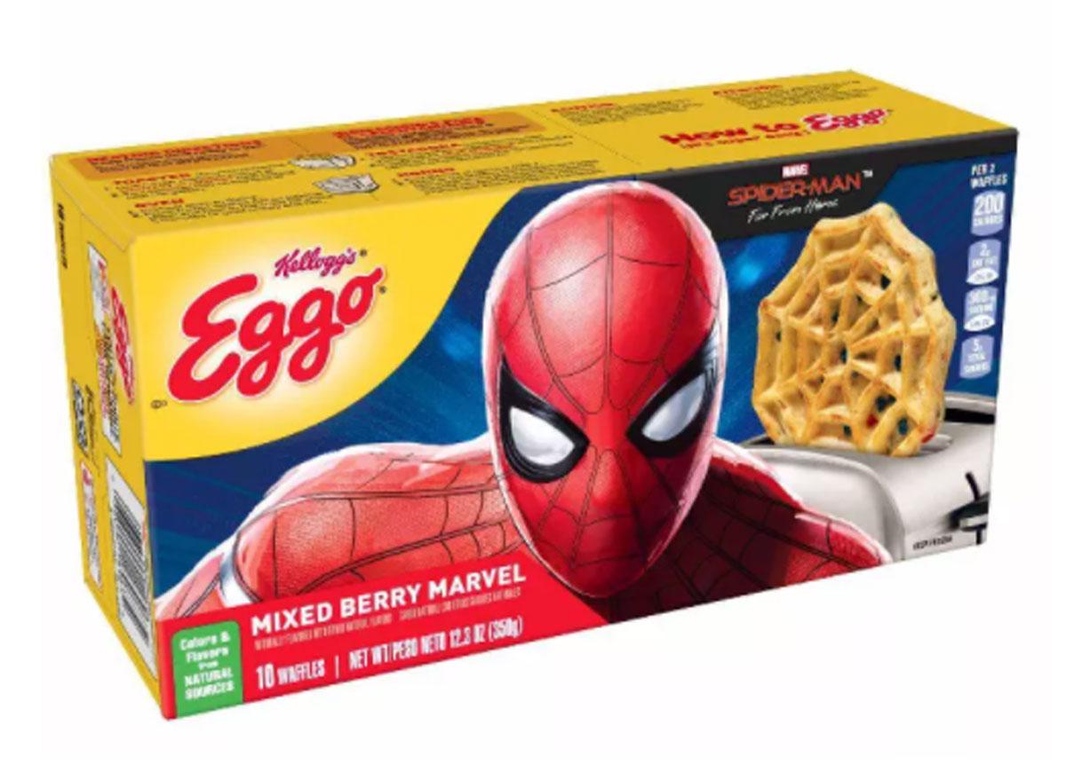 kelloggs eggo spiderman mixed berry marvel box