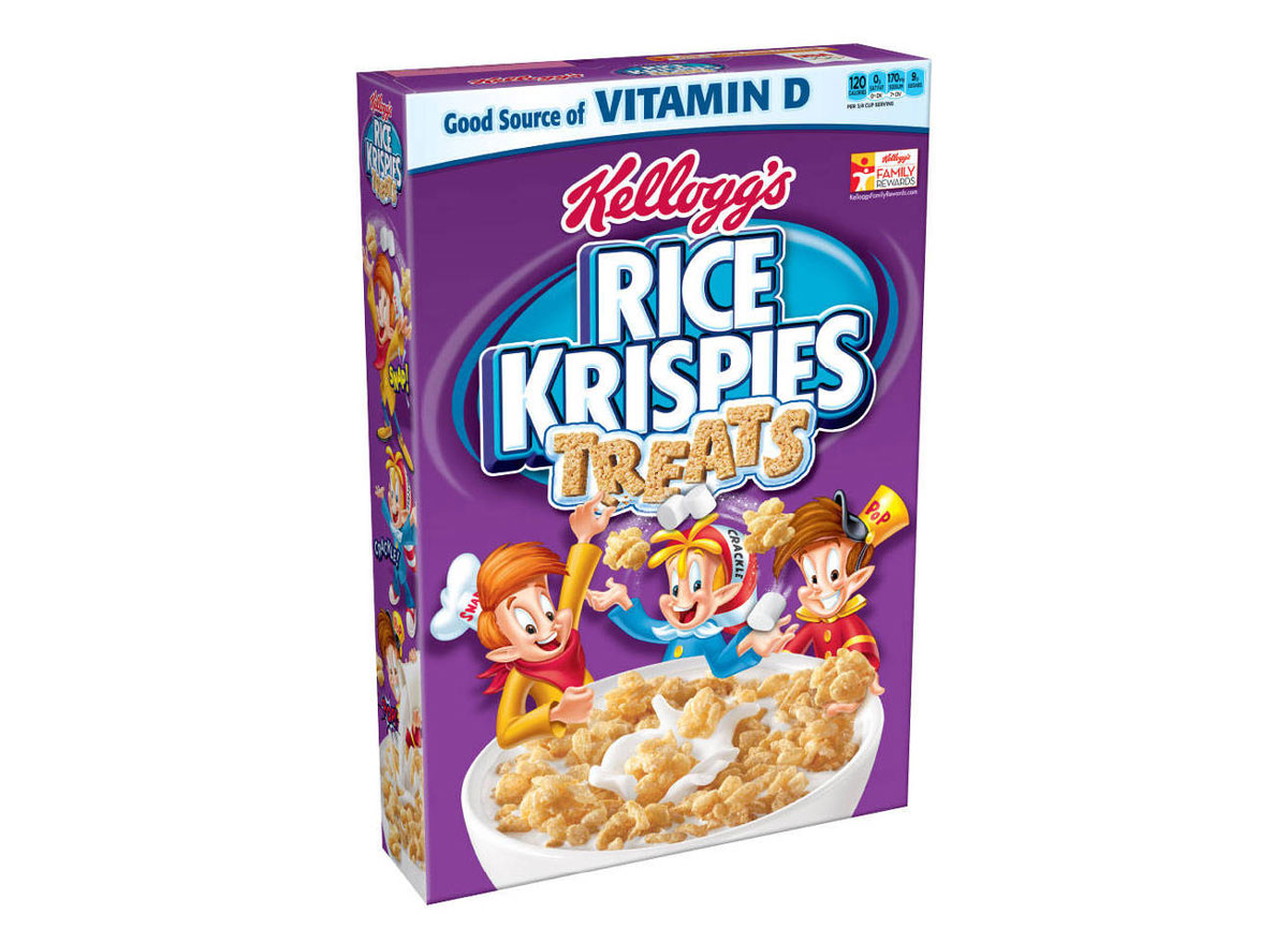 kelloggs rice krispies treats cereal box
