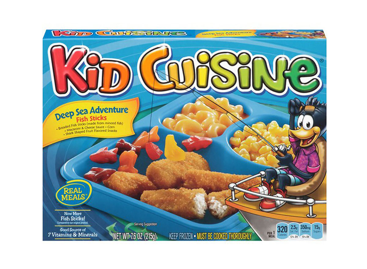 kid cuisine fish sticks frozen dinner