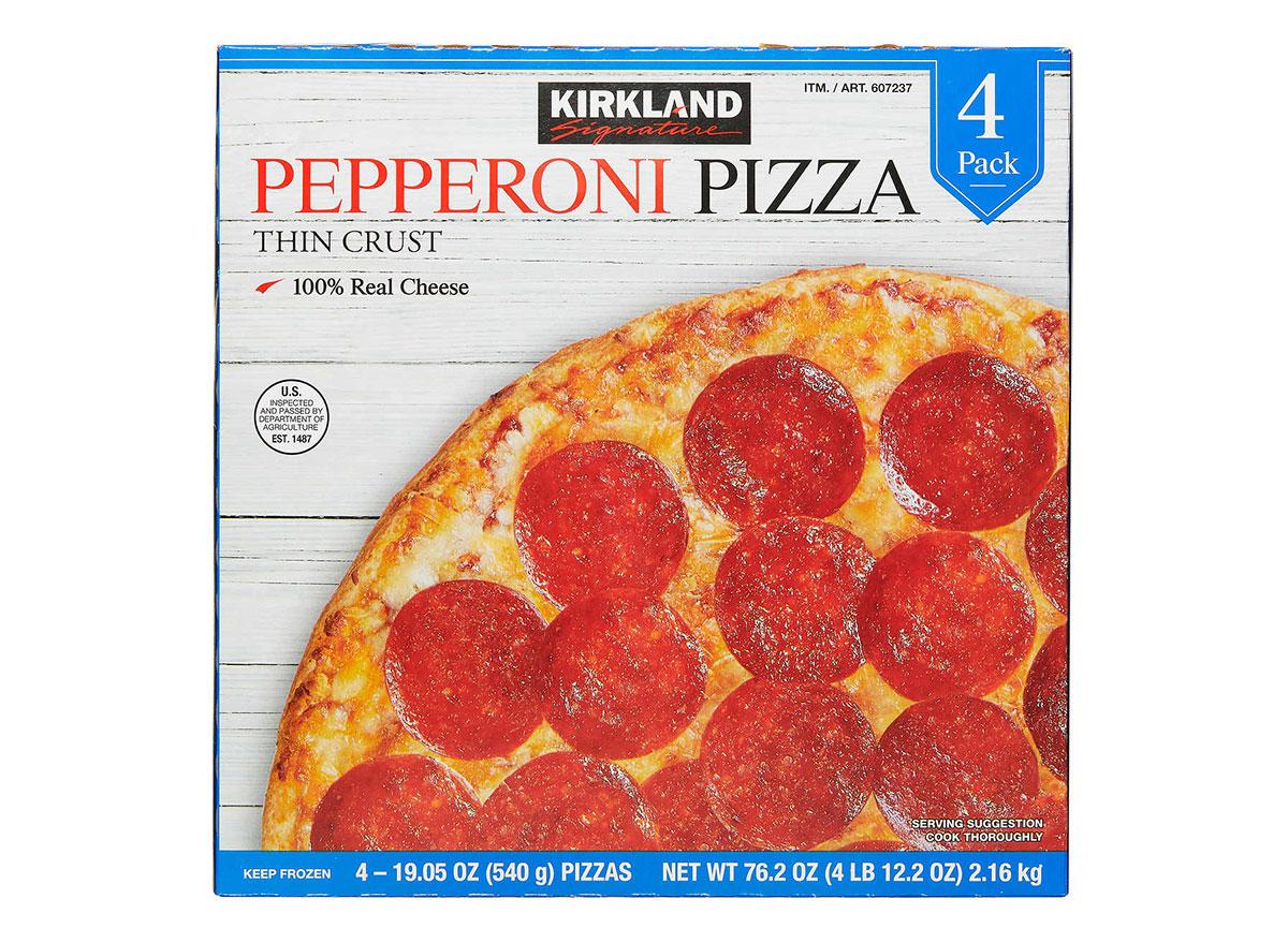 kirkland signature frozen pepperoni pizza