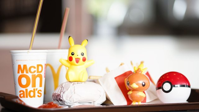 mcdonalds happy meal on tray