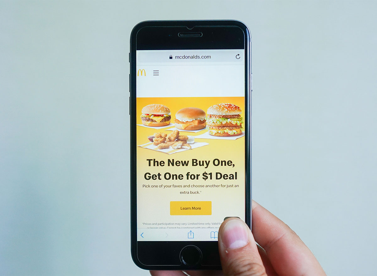 mcdonalds phone app deal