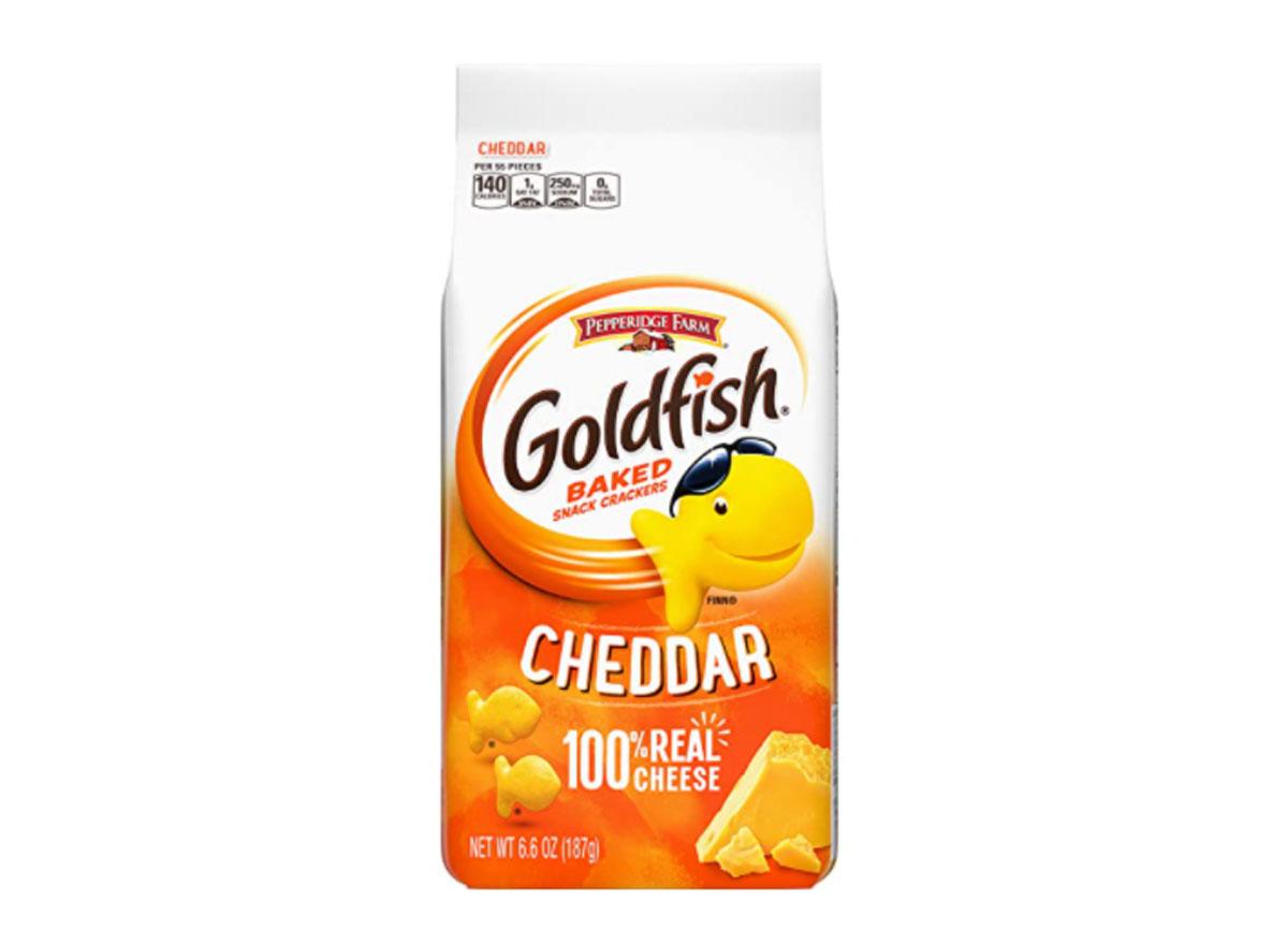 pepperidge farm baked goldfish cheddar bag