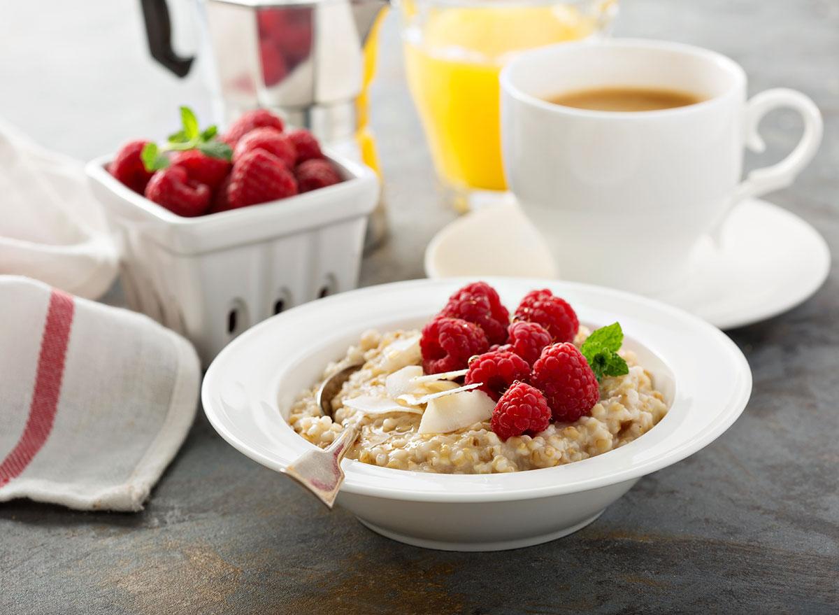 raspberries oatmeal