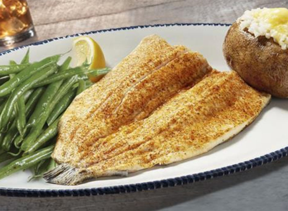 red lobster rainbow trout