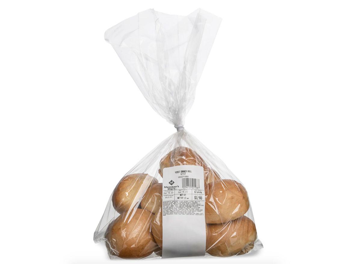 package of sams club dinner rolls
