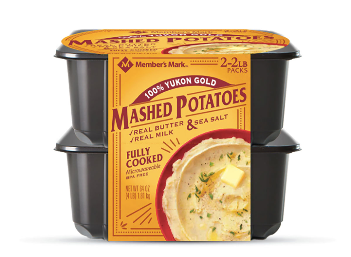 tubs of members mark mashed potatoes from sams club