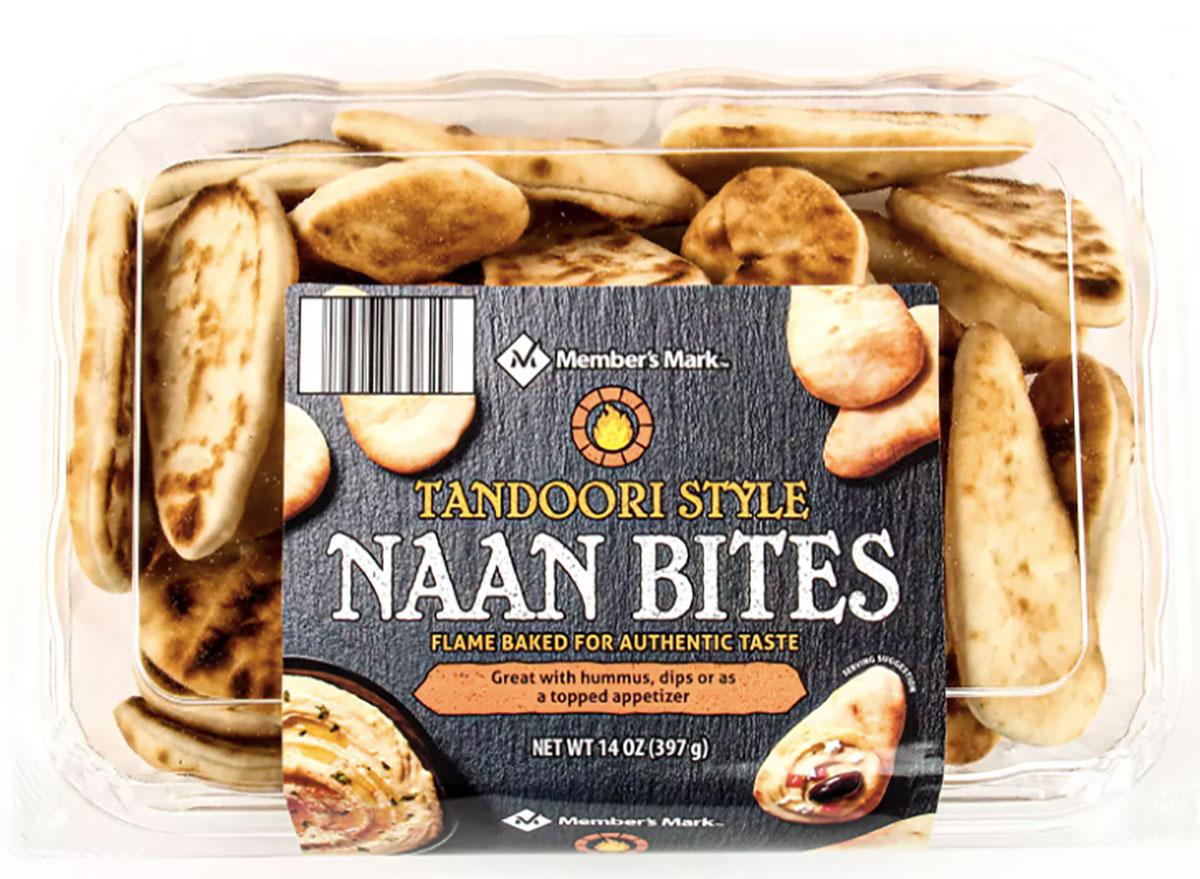 box of tandoori naan bites from sams club