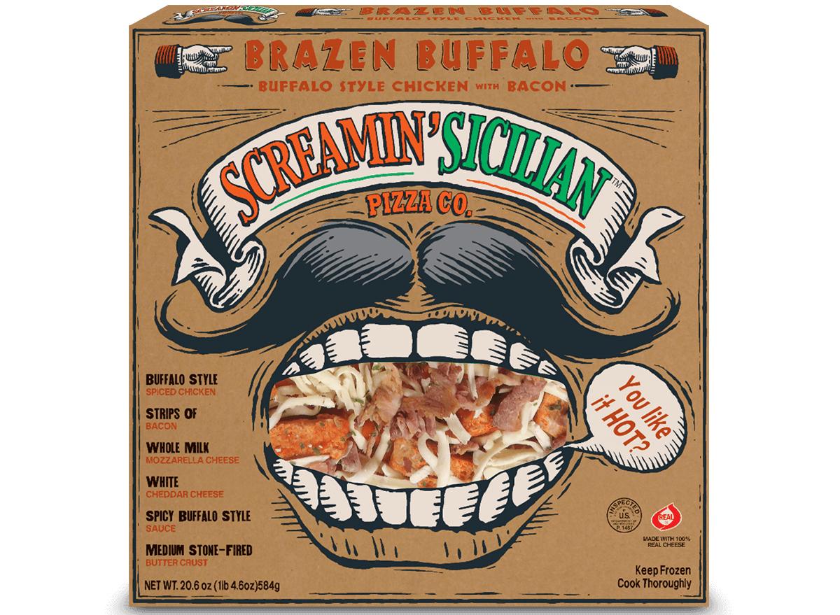 screamin sicilian brazen buffalo pizza