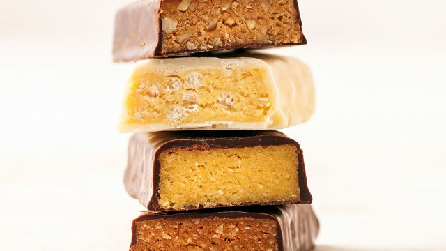 stack of protein bars