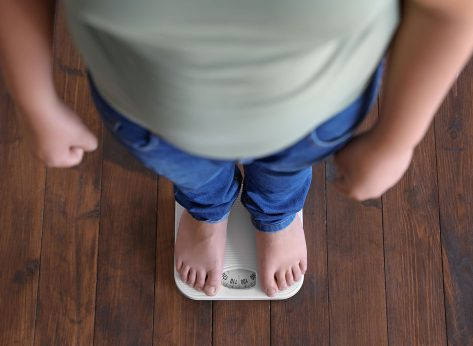 standing on scale
