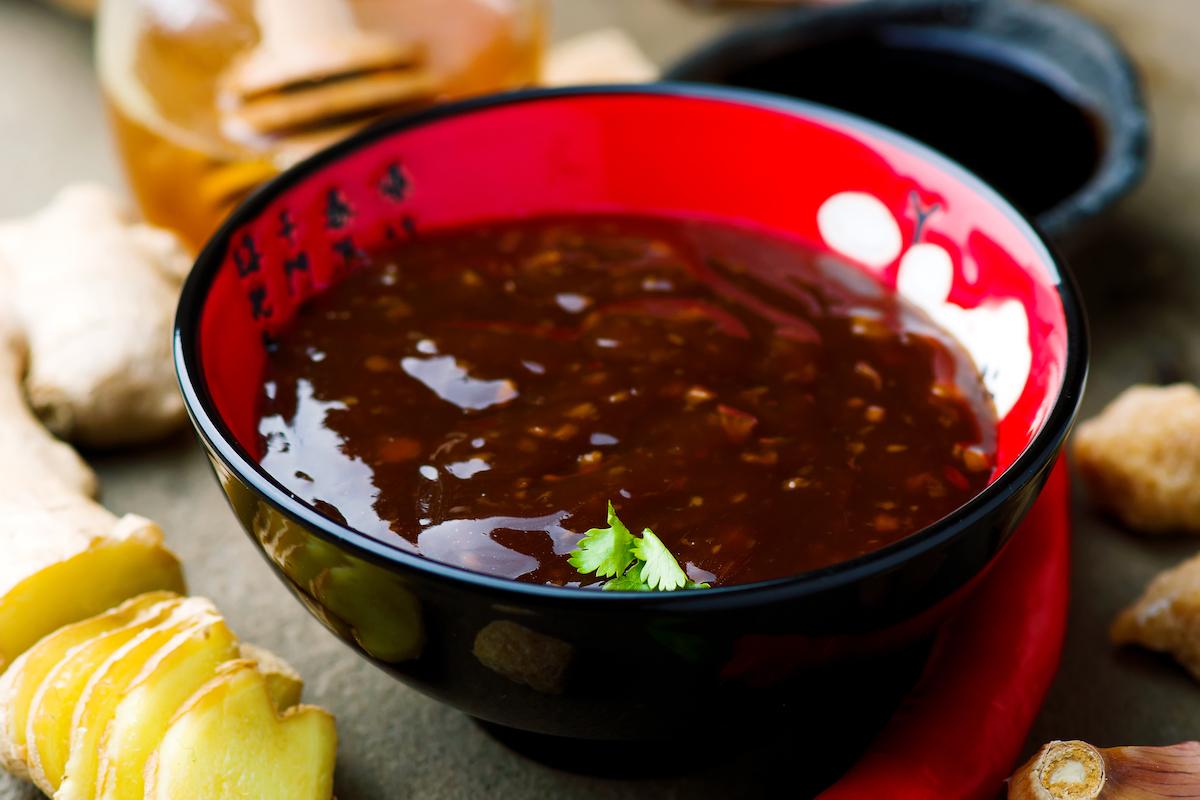 bowl of teriyaki sauce