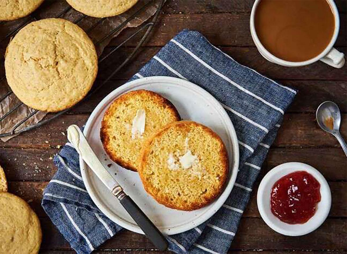 toaster corncakes with jam