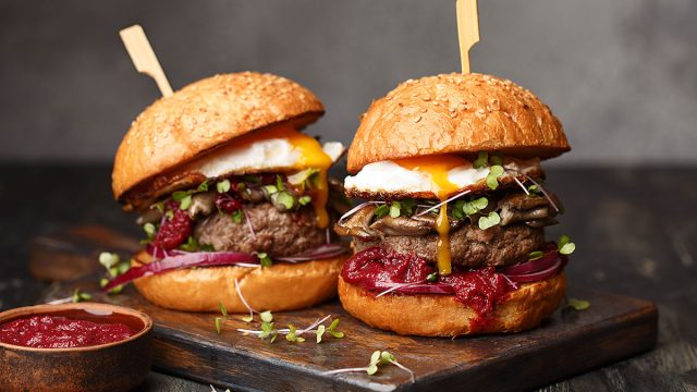 Two small healthy burgers