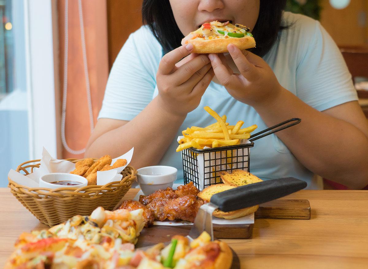 unhealthy dinner
