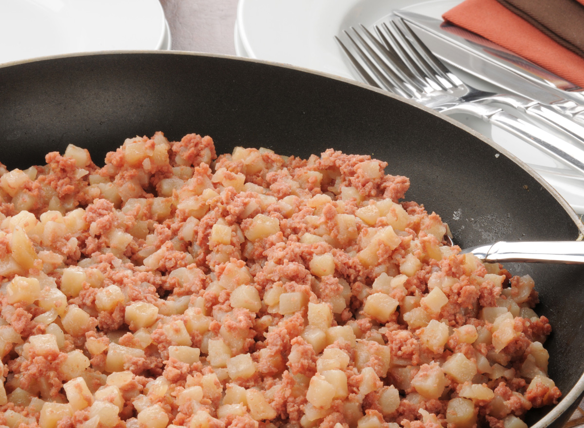 Canned corned beef hash