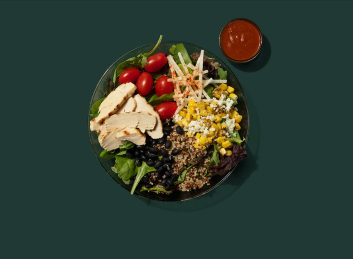 chicken quinoa protein bowl