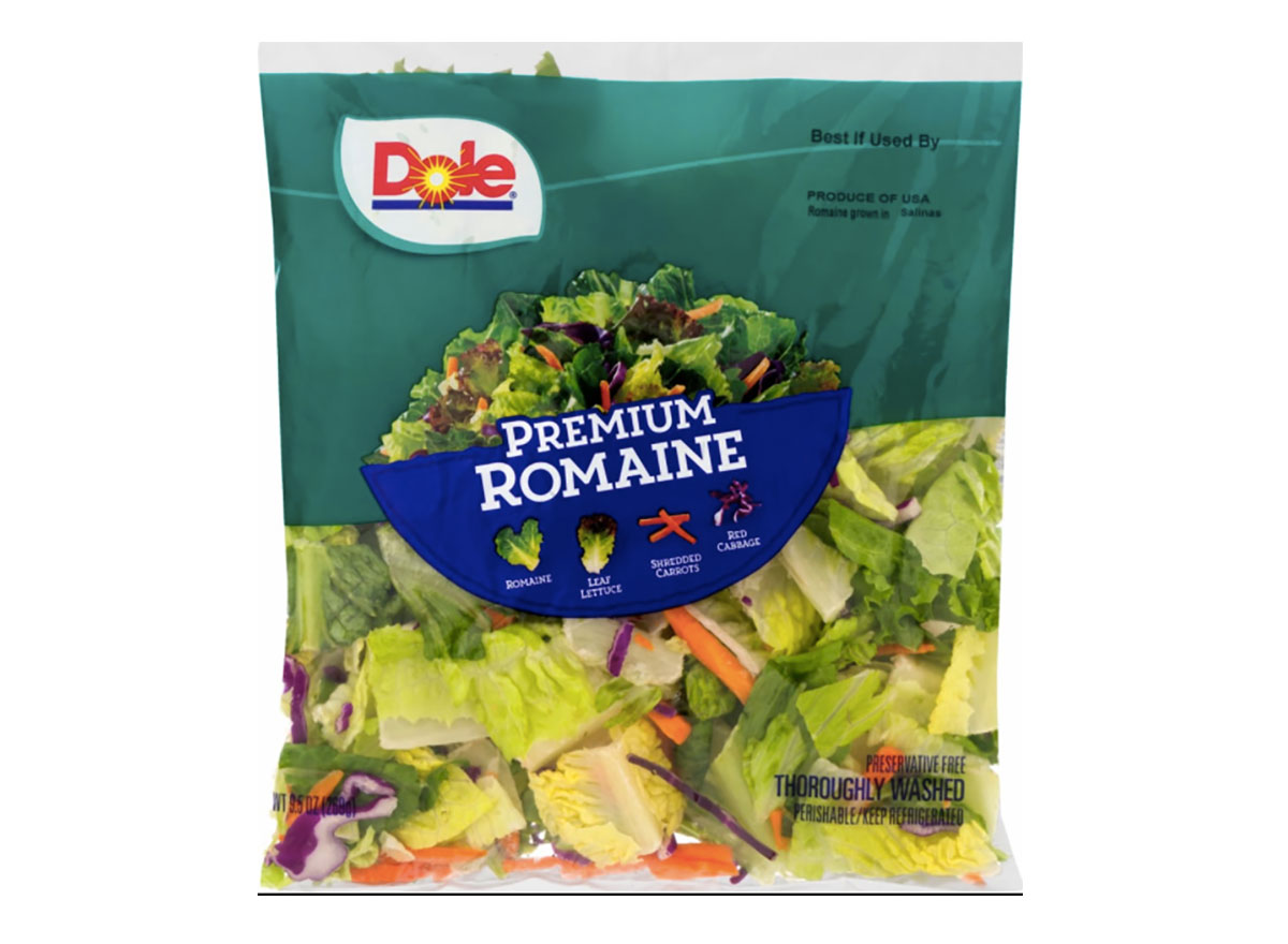bag of dole romaine lettuce