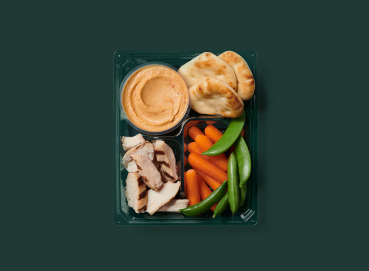 grilled chicken and hummus box